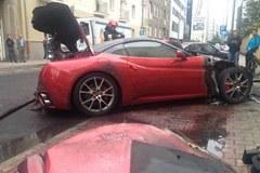 Ferrari spłonęło w Warszawie
