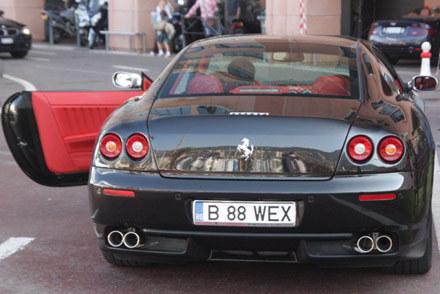 Ferrari w Monte Carlo na rumuńskich numerach /INTERIA.PL