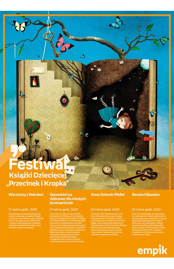 """Festiwal Książki Dziecięcej """"Przecinek i Kropka"""" /materiały prasowe"""