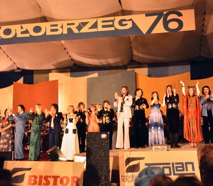 Festiwal Piosenki Żołnierskiej w Kołobrzegu 1976 r. /Wacław Kapusto /Agencja FORUM