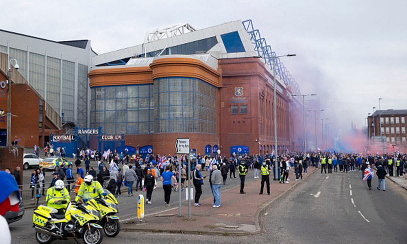 Feta kibiców pod stadionem Rangersów /Alan Harvey / SNS Group  /Getty Images