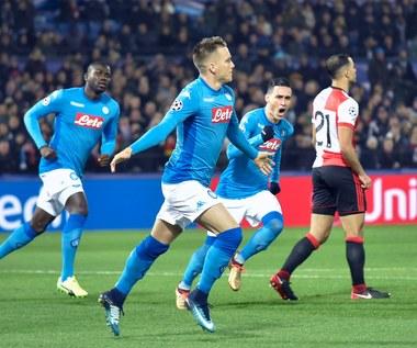 Feyenoord - Napoli 2-1 w Lidze Mistrzów. Gol Zielińskiego