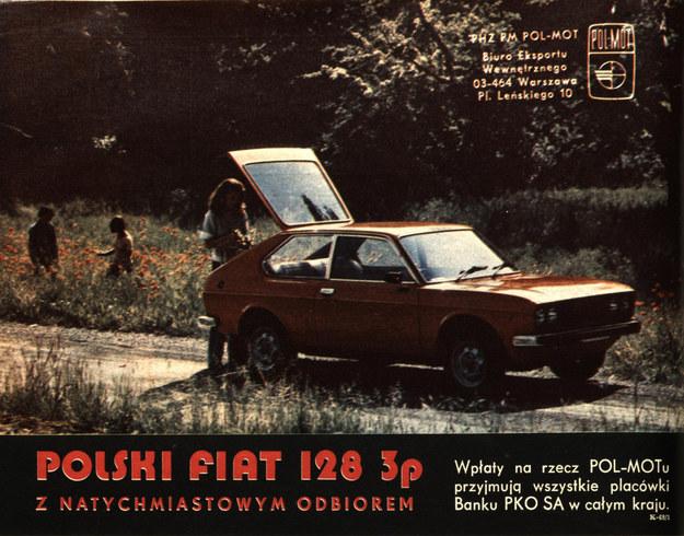 """Fiat 128p - reklama prasowa zamieszczona w tygodniku """"Motor"""" w kwietniu 1976 roku /Archiwum Tomasza Szczerbickiego"""