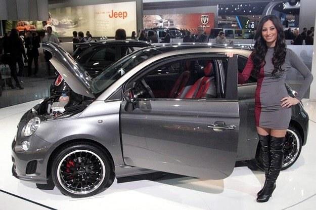 Fiat 500 EV w Detroit /AFP