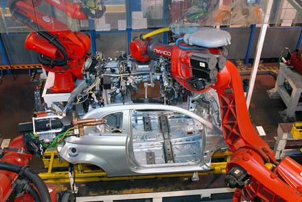 Fiat 500 na linii produkcyjnej w Tychach. /INTERIA.PL