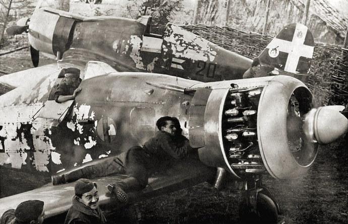 Fiaty G.50 na lotnisku w Ursel /Wikimedia Commons /INTERIA.PL/materiały prasowe