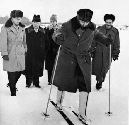 Fidel w Związku Radzieckim /AFP
