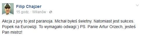 Filip Chajzer na Facebooku /