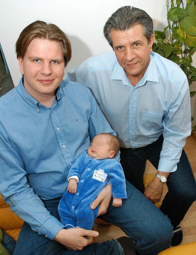 Filip Chajzer z ojcem i synem Maksem /Marek Szymański /Reporter