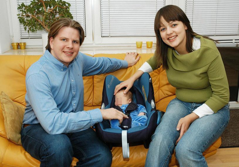 Filip Chajzer z żoną Julią i synem Maksiem /Marek Szymański /Reporter