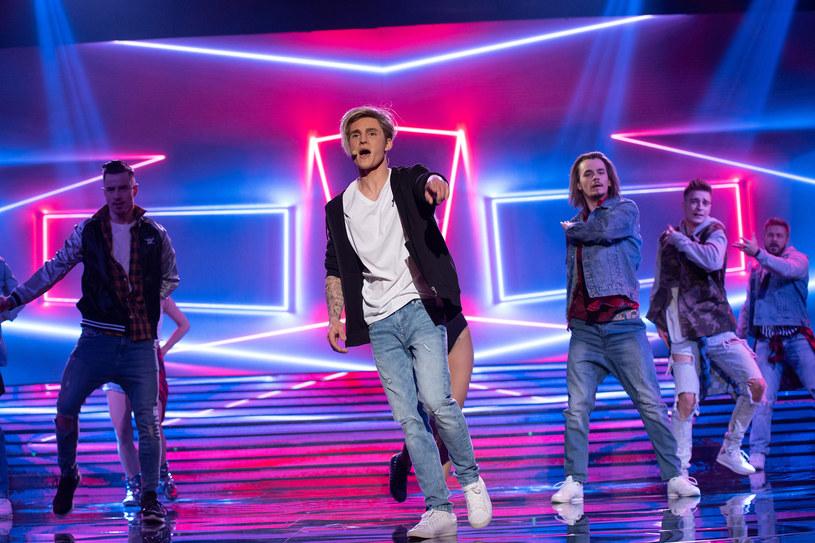 Filip Gurłacz jako Justin Bieber /M. Zawada /Polsat
