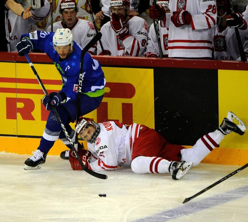 Filip Komorski podczas meczu ze Słowenią /East News
