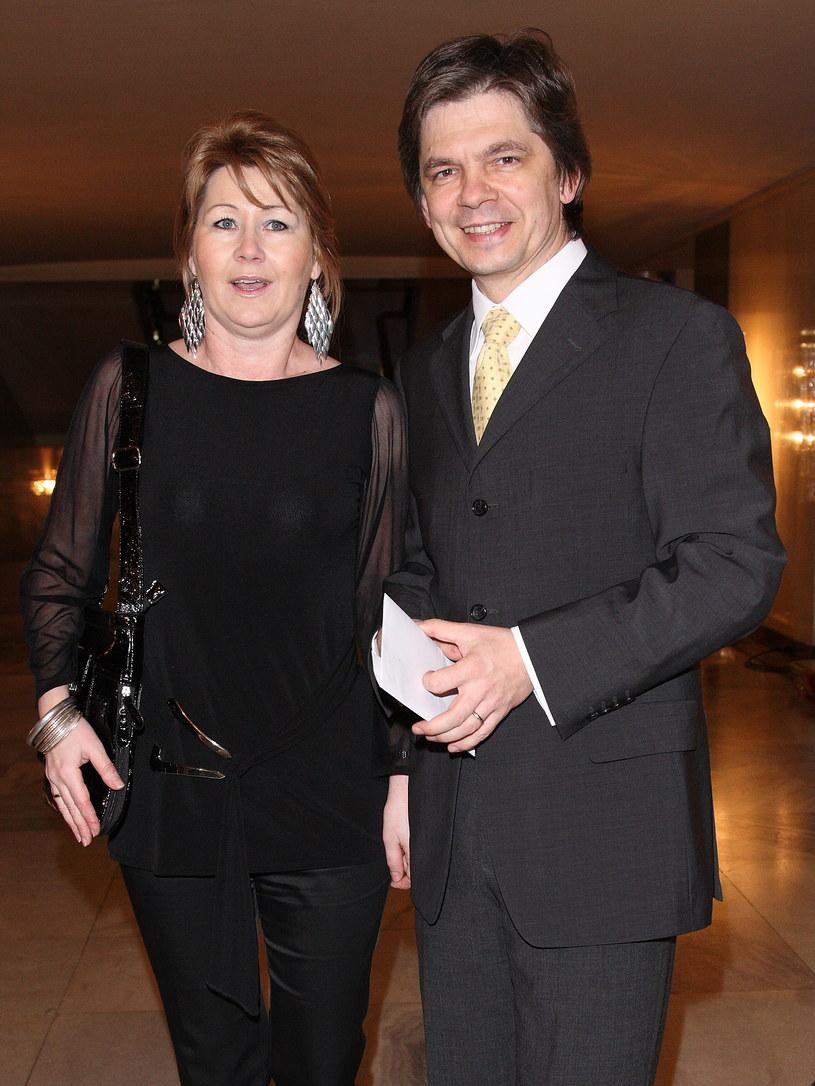 Filip Łobodziński z trzecią żoną /Krzysztof Jarosz /Agencja FORUM