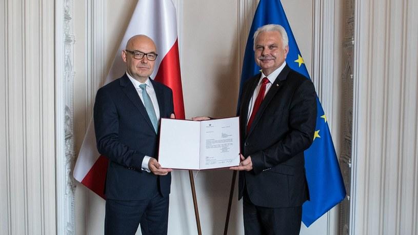 Filip Nowak (z lewej) i Waldemar Kraska /Ministerstwo Zdrowia /Twitter