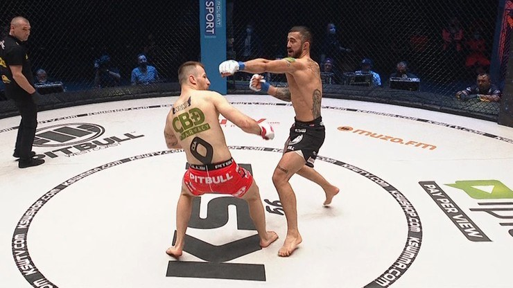 Filip Pejić po zaledwie kilkunastu sekundach walki znokautował Sebastiana Rajewskiego podczas KSW 56 /Polsat Sport