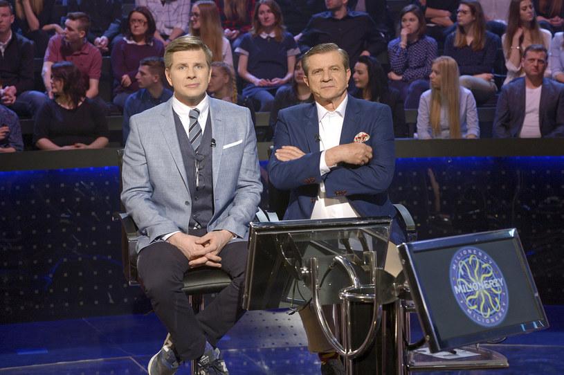 Filip z ojcem Zygmuntem tworzą ciekawy duet prowadzących! /Piętka Mieszko /AKPA