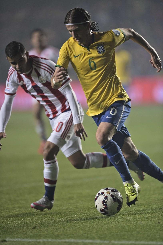 Filipe Luis jest reprezentantem Brazylii /JUAN MABROMATA /AFP