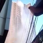 Filipiny. Hektolitry wody z basenu na dachu wieżowca zalały ulicę [WIDEO]