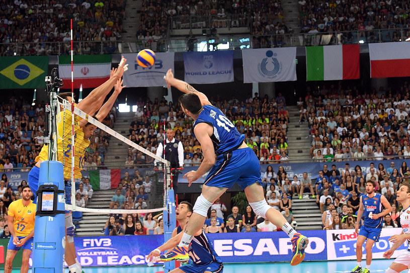 Filippo Lanza w meczu z Brazylią /www.fivb.org