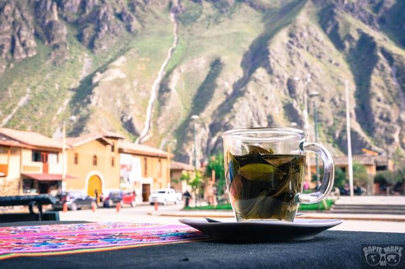 Filiżanka herbaty i widok na Andy, Peru. /Informacja prasowa