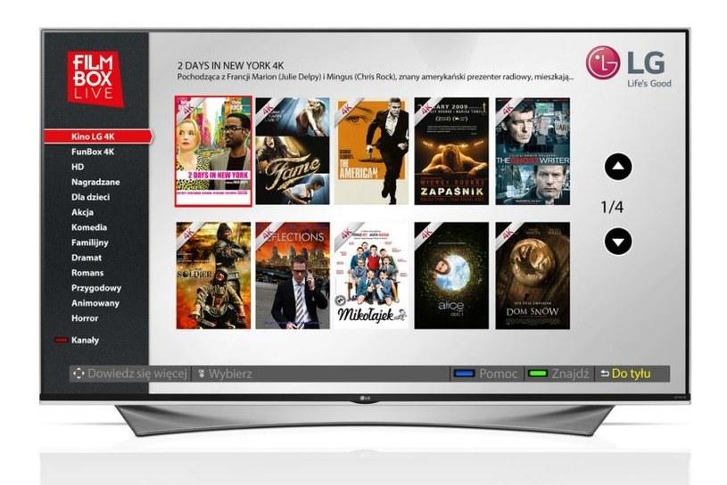 FilmBox Live w wersji dla telewizorów Ultra HD ze stajni LG /materiały prasowe