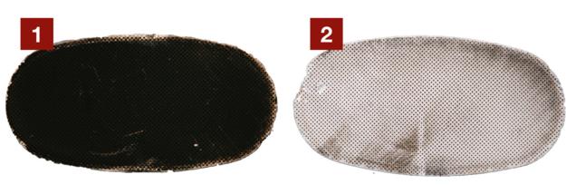 Filtr przed [1] oraz po [2] regeneracji. Koszt - wraz z demontażem - 650 zł. /Motor