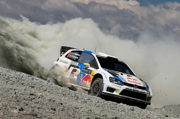 Fin Jari-Matti Latvala i jego  Polo WRC /