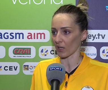 Finał Ligi Mistrzyń 2021. Maja Ognjenovic: Dałyśmy z siebie wszystko (POLSAT SPORT). Wideo