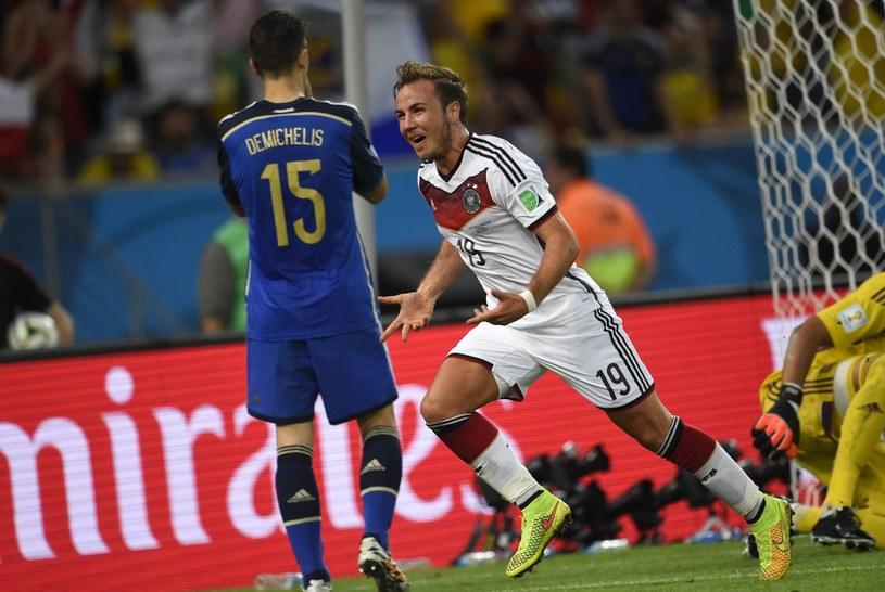 Finał MŚ 2014 - Mario Goetze zdobył zwycięską bramkę dla reprezentacji Niemiec /AFP