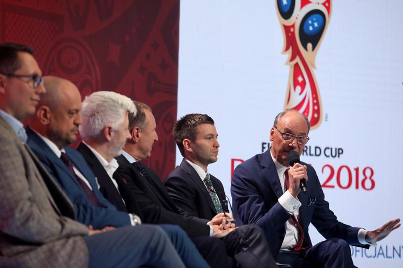 Finał mundialu w Rosji skomentują Dariusz Szpakowski (P) i Andrzej Juskowiak / Leszek Szymański    /PAP