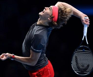 Finały ATP: Alexander Zverev - Marin Czilić 7:6, 7:6 w grupie Gustava Kuertena