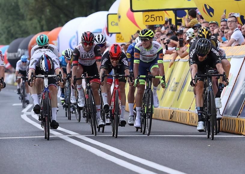 Finisz 5. etapu Tour de Pologne 2021 /Andrzej  Grygiel /PAP