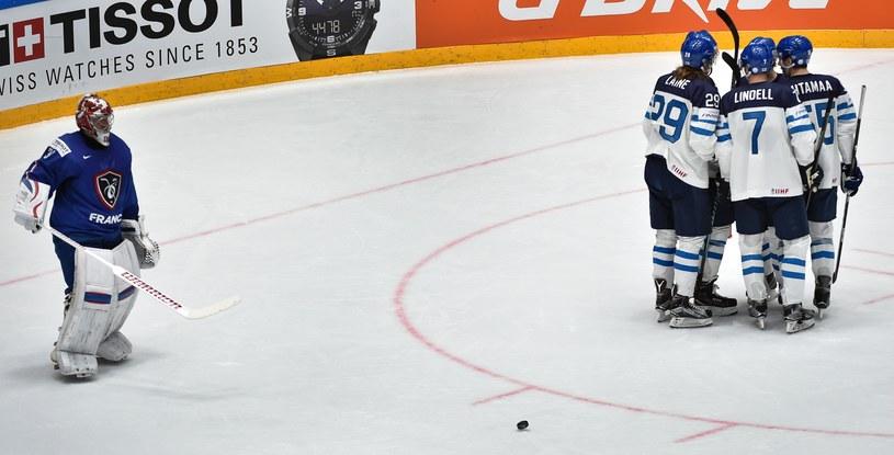 Finowie po jednym z goli /AFP