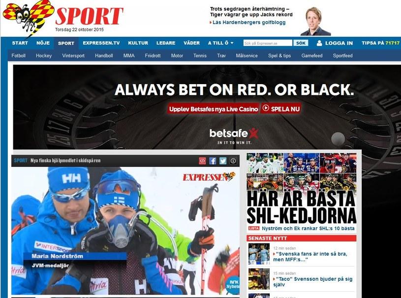 Fińscy biegacze narciarscy budzą zainteresowanie ze względu na butle tlenowe i maski; źródło: expressen.se /