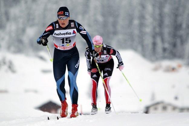 Fińska biegaczka narciarska Aino-Kaisa Saarinen /AFP