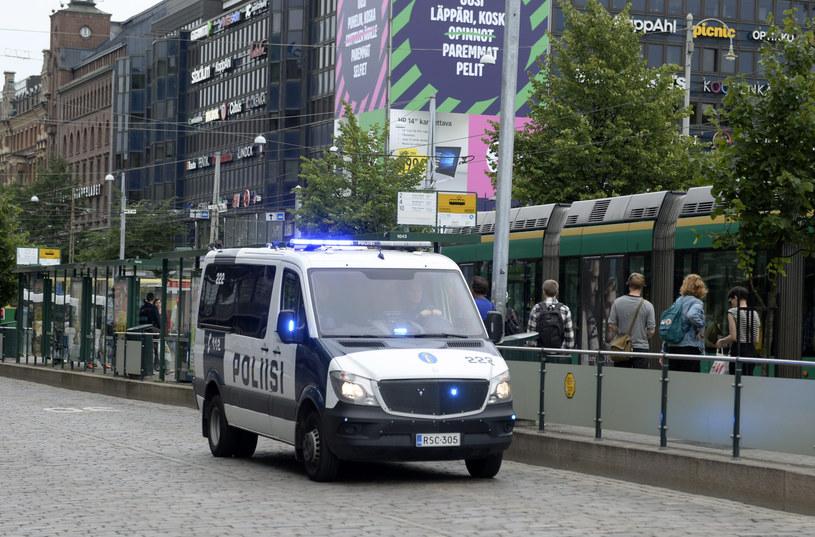 Fińska policja wezwała ludzi do unikania centrum miasta /Linda Manner / Lehtikuva / AFP /AFP