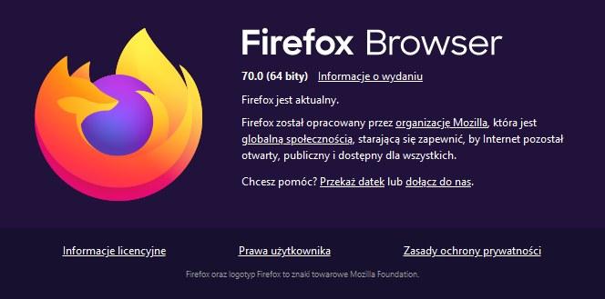Firefox 70.0 /INTERIA.PL