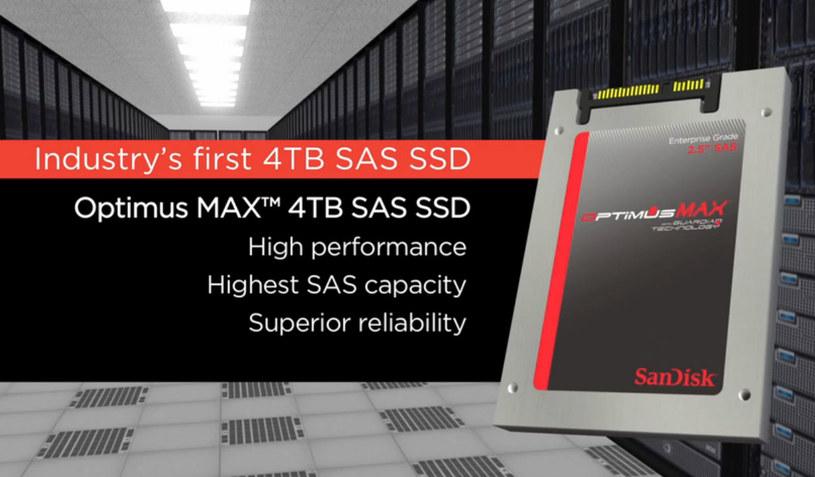Firma SanDisk stworzyła pierwszy na świecie dysk SSD o pojemności 4 TB. /materiały prasowe