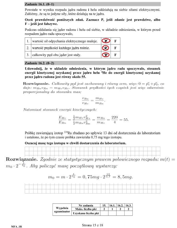 Fizyka poziom rozszerzony; matura 2017 /INTERIA.PL