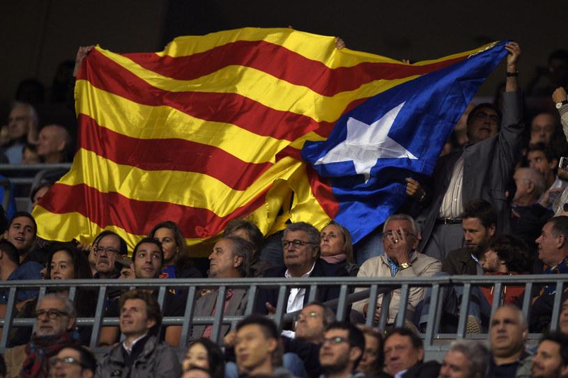 Flaga Katalonii, zdj. ilustracyjne /LLUIS GENE / AFP /AFP