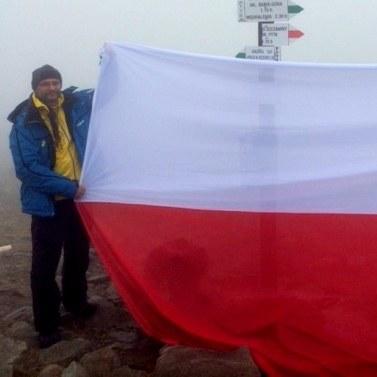 Flaga na Babiej Górze /RMF FM
