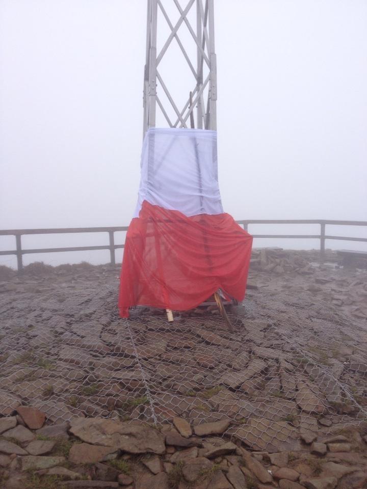 Flaga na Tarnicy /RMF FM