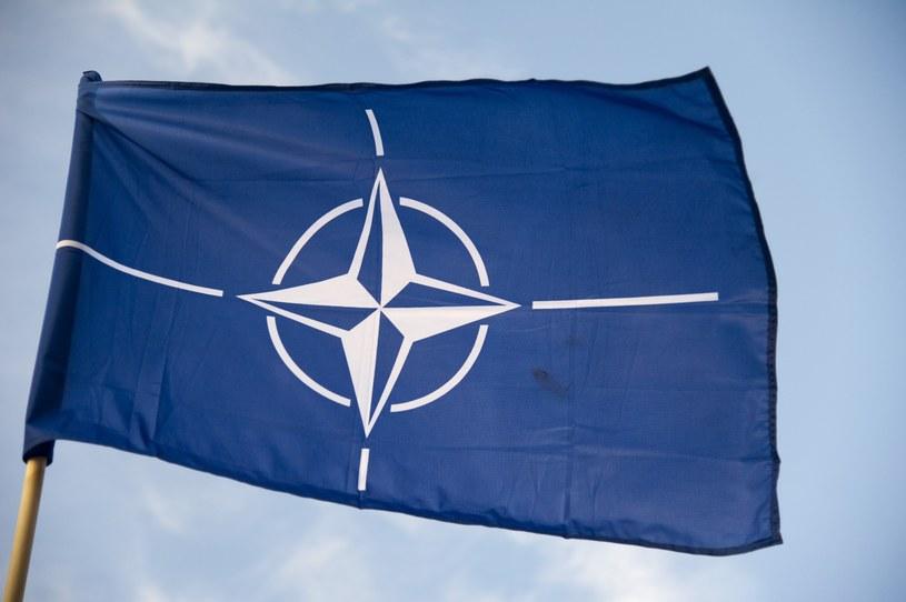 Flaga NATO; Zdjęcie ilustracyjne /Wojciech Strozyk/ /Reporter