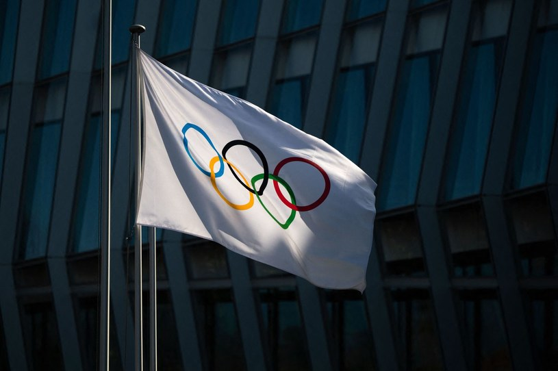 Flaga olimpijska /AFP/AFP FABRICE COFFRINI/ /AFP