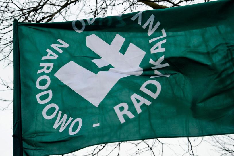 Flaga ONR; zdj. ilustracyjne /Stanisław Bielski /Reporter