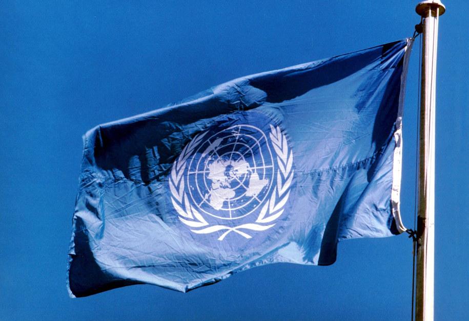Flaga ONZ (zdj. ilustracyjne) /UPPA/Photoshot    /PAP/EPA