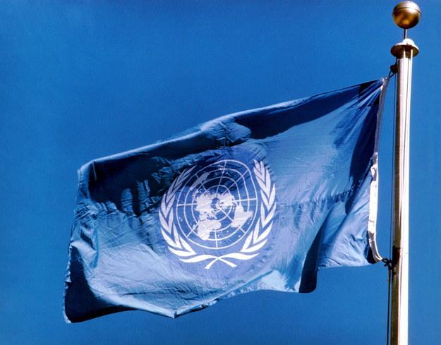Flaga ONZ /UPPA /PAP/Photoshot