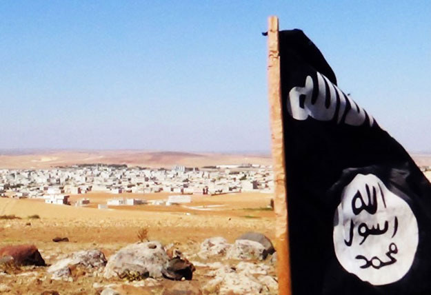 Flaga Państwa Islamskiego /AFP