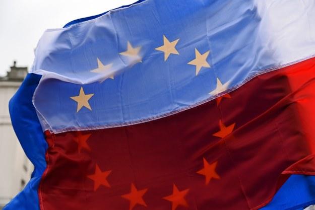 Flaga Polski i Unii Europejskiej /M. Lasyk /Reporter