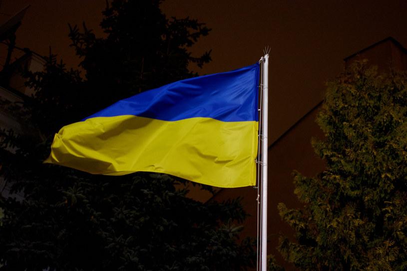 Flaga Ukrainy /Krzysztof Radzki /East News